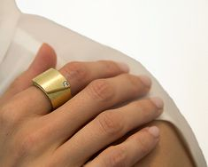Gold engagement ring 18k gold ring and by nomikaufmannjewelry