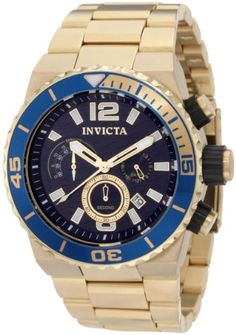 #Invicta #Men's 1338 Speedway Chronograph Champagne Dial 18k Gold Ion-Plated Stainless Steel #Watch       Watch band not up to quality of watch       http://amzn.to/H9QdNj