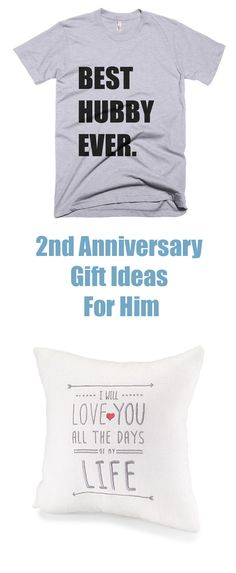 2nd anniversary gift ideas for him are traditionally in cotton. Lots of gorgeous gift ideas here