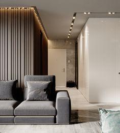 Gorgeous Apartment Ceiling Design Ideas That Inspiring 23 Interior Flat, Lobby Interior, Luxury Interior, Modern Interior Design, Interior Architecture, Modern Ceiling Design, Interior Ceiling Design, Modern Apartment Decor, Apartment Interior