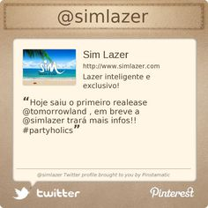 @simlazer's Twitter profile courtesy of @Pinstamatic (http://pinstamatic.com)
