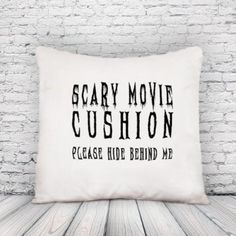Scary Movie Cushion Cover, Movie Cushion, Film cushion pillow, pillow case, cushion case, novelty: Amazon.co.uk: Kitchen & Home