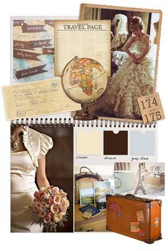 "Idea board! Mainly love the map and the ""travel page"" - that would make a nice ""how we met"" story. @Allison (Future Mrs. Cameron) Prue"