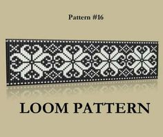 Seed Bead Loom Pattern 16 Two Color Palettes Ice Flowers