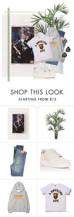 """First take"" by roxy-bella ❤ liked on Polyvore featuring Urban Outfitters, Nearly Natural, Citizens of Humanity, NIKE, A BATHING APE and Prada"