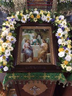 День Святой Троицы, украшение иконы