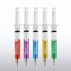 Multi-Color Syringe Pens make great nurses gifts!!