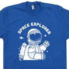 fc4b36a6b Space Explorer Vintage T shirt Nasa Science Tees Cool Geek T Shirts Science  Shirts, Science