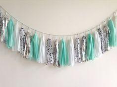 Minted Tassel Garland - wedding, party decor, nursery, shop display, photo shoot, opening, backdrop