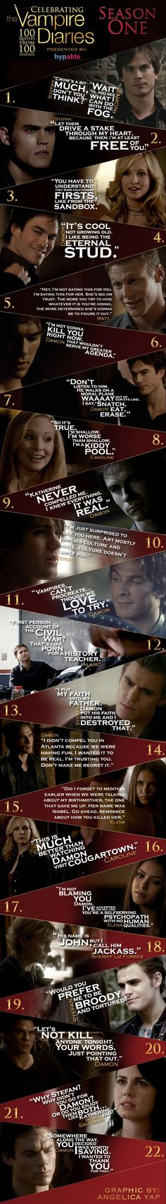 Famous TVD Quotes from Season 1 | Upsmash- Tv Shows, Communities, News, Spoilers