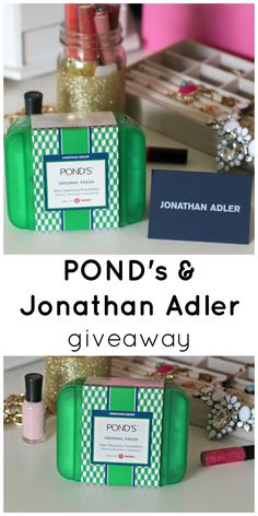 Enter to win a limited edition POND's + Jonathan Adler vanity case and a $200 gift card to Jonathan Adler!