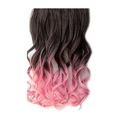 """SODIAL(R)55cm/21"""" Long Curly Clip In Hair Extensions Wigs Hairpiece Brown Pink -- Click image for more details. We are a participant in the Amazon Services LLC Associates Program, an affiliate advertising program designed to provide a means for us to earn fees by linking to Amazon.com and affiliated sites."""