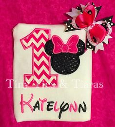 Minnie Mouse custom personalized birthday shirt/ Minnie bow/ Disney birthday/ Minnie birthday party/ Minnie 1st birthday/ 2nd birthday