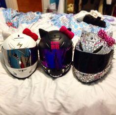 DIY Female Motorcycle Helmets