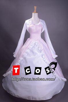 Cosplay Code Geass Euphemia/Euphy Costume Women's Dress Length-Skirt Long-Sleeved Wedding Gown Rode Evening Dress #Affiliate