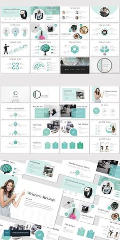 Ontario-Powerpoint Template Brand Presentation, Presentation Templates, Keynote Design, Branding Design, Pptx Templates, Brand Guidelines, Social Media Design, Creative Industries, Keynote Template