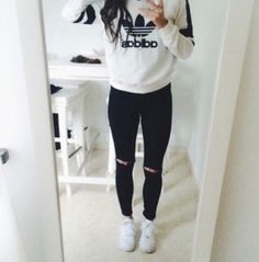 adidas negro blanco