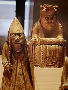 Edinburgh–medieval Viking chess pieces in the... - 180 Abroad