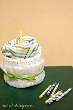 Super cute idea...move over diaper cake.