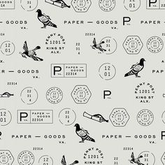 Vintage Graphic Design Named after one of Britain's first postal systems, we created a collection of stamps and illustrations for the identity. Logos, Typography Logo, Lettering, Typography Design, Brand Identity Design, Graphic Design Branding, Corporate Design, Badges, Design Package