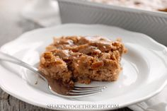 I dug into my family recipe box for this dessert - my Grandma's Apple Cake with Cinnamon Crackle Glaze! This cake is tender, studded with tons of apples and walnuts and is topped with the most glorious cinnamon glaze!