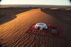 Sunset cocktails, Dar Ahlam Private Tent Camp, Sahara Desert, Morocco