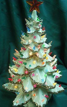 Christmas Tree - Lenox China Tinsel Christmas Tree, Tabletop Christmas Tree, Cowboy Christmas, Retro Christmas, Xmas Tree, Christmas Art, Christmas Photos, Christmas Holidays, Christmas Decorations