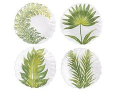 Palm Tree Salad Plates