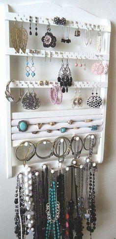 Shabby Chic Jewelry Organizer Bracelet holders Coffee and Bracelets