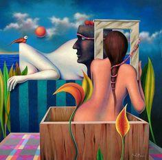 Jose De la Barra 1956   Peruvian Symbolist painter