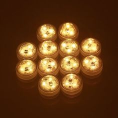 Waterproof 3 LEDs Submersible Tea Light Tealight Candles with Remote Control White/Warm White