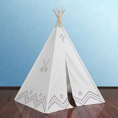Dot & Bo Canvas Color-Me Teepee ($140) ❤ liked on Polyvore