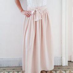 patron de couture femme Pastel - la jupe longue taille haute, à nouer