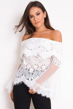 The beautiful lace Hayden top is the perfect addition to your summer wardrobe 🌸 Chic and elegant for those balmy summer evenings ahead 🌸 Jean Top, Summer Evening, Summer Wardrobe, Off Shoulder Blouse, Elegant, Chic, Jeans, Lace, Beautiful