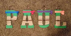 **COST IS PER LETTER**  Teenage mutant ninja turtles wooden letters. These are 8 wooden letters. Price will include ribbon hangers. If you are
