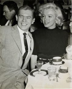 Marilyn Monroe and Johnnie Ray at Ciro's, 1953.