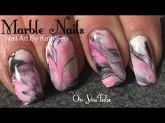 Marble Nails Using Acrylic Paint - YouTube