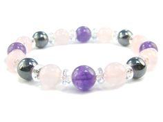 BB0806 Rose Quartz Amethyst Hematite Clear Quartz Natural Crystal Gemstone Stretch Bracelet - See more at: http://waggashop.com/wagga-shop-bb0806-rose-quartz-amethyst-hematite-clear-quartz-natural-crystal-gemstone-stretch-bracelet