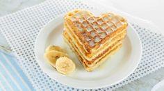 طريقة عمل الوافل بالقرفة والموز للرجيم - Light banana and cinnamon waffle recipe