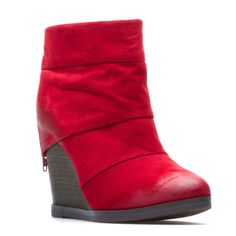 Casual Chic Wedge Bootie.