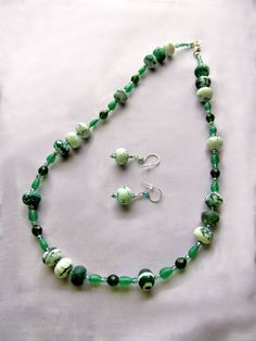 Jewelry Bead necklace Green necklace and by UniquelyArdath on Etsy, $48.00