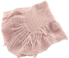 These are the hard to find, heirloom quality blankets our parents and grandparents used when we were babies! Wrap your baby with love in this beautiful knit baby blanket. This lovely baby blanket is knitted with a beautiful pointelle stitch and has a shiny satin ribbon inserted and ends with a dainty bow. Made of 100% cotton, it's soft on the baby's skin and easy to care for. This baby blanket is perfect to use as a Christening blanket, pretty receiving blanket, stroller blanket and ...