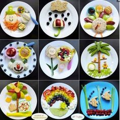 Be creative with your plates--Food is fun! Food is beautiful! Food is art! xo The Balanced Beauty