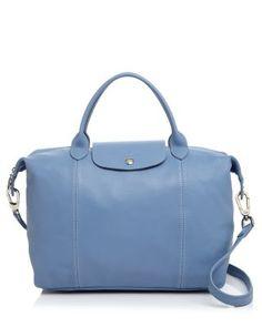 LONGCHAMP Le Pliage Medium Leather Satchel. #longchamp #bags #polyester #leather #lining #satchel #shoulder bags #hand bags #
