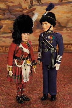 Two English Cloth Dolls Portraying the British King by Farnell's Alpha Toys  View Catalog Item - Theriaults Antique Doll Auctions