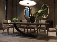 Cute contemporary dining room buffet for 2019 Dinning Table Design, Wooden Dining Table Designs, Unique Dining Tables, Luxury Dining Tables, Contemporary Dining Table, Metal Dining Table, Luxury Dining Room, Dining Table Chairs, Contemporary Decor