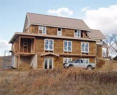 3 story straw bale home. our dream house.