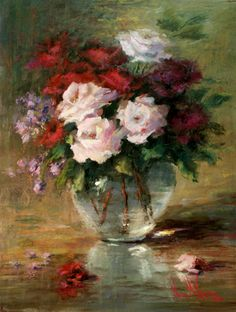 """Some Paintings Back on my Walls      """"White Rose"""" Oil on linen on board (30""""x14"""")          """" Hydrangeas"""" Oil on gallery wrapped canvas..."""