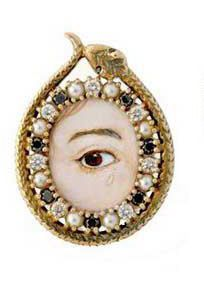 Lover's Eye by 2ETN  Reclaimed 14kt Gold, Reclaimed Clear and Black Diamonds & pearls