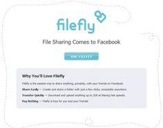 FILEFLY – nuova applicazione per poter condividere fino a 2GB di file su Facebook!